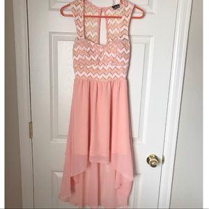 Deb dress coral pink